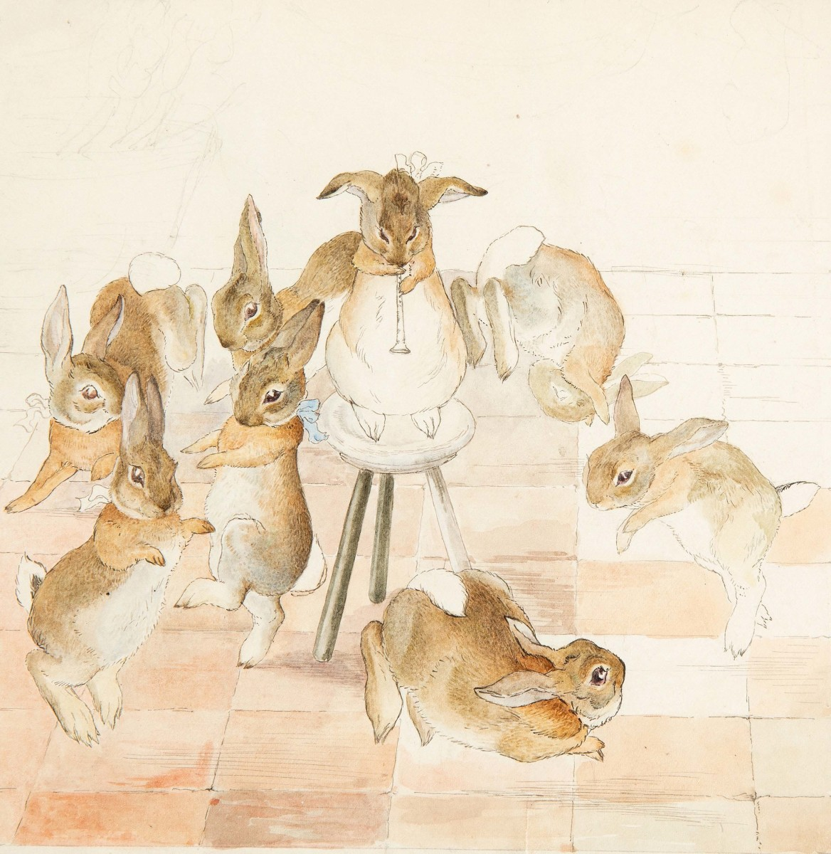 """Beatrix Potter. """"Dancing to the Piper."""""""