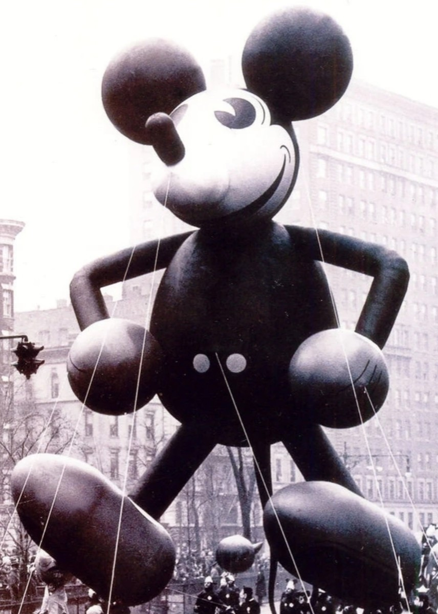 Mickey Mouse makes his debut in 1934.