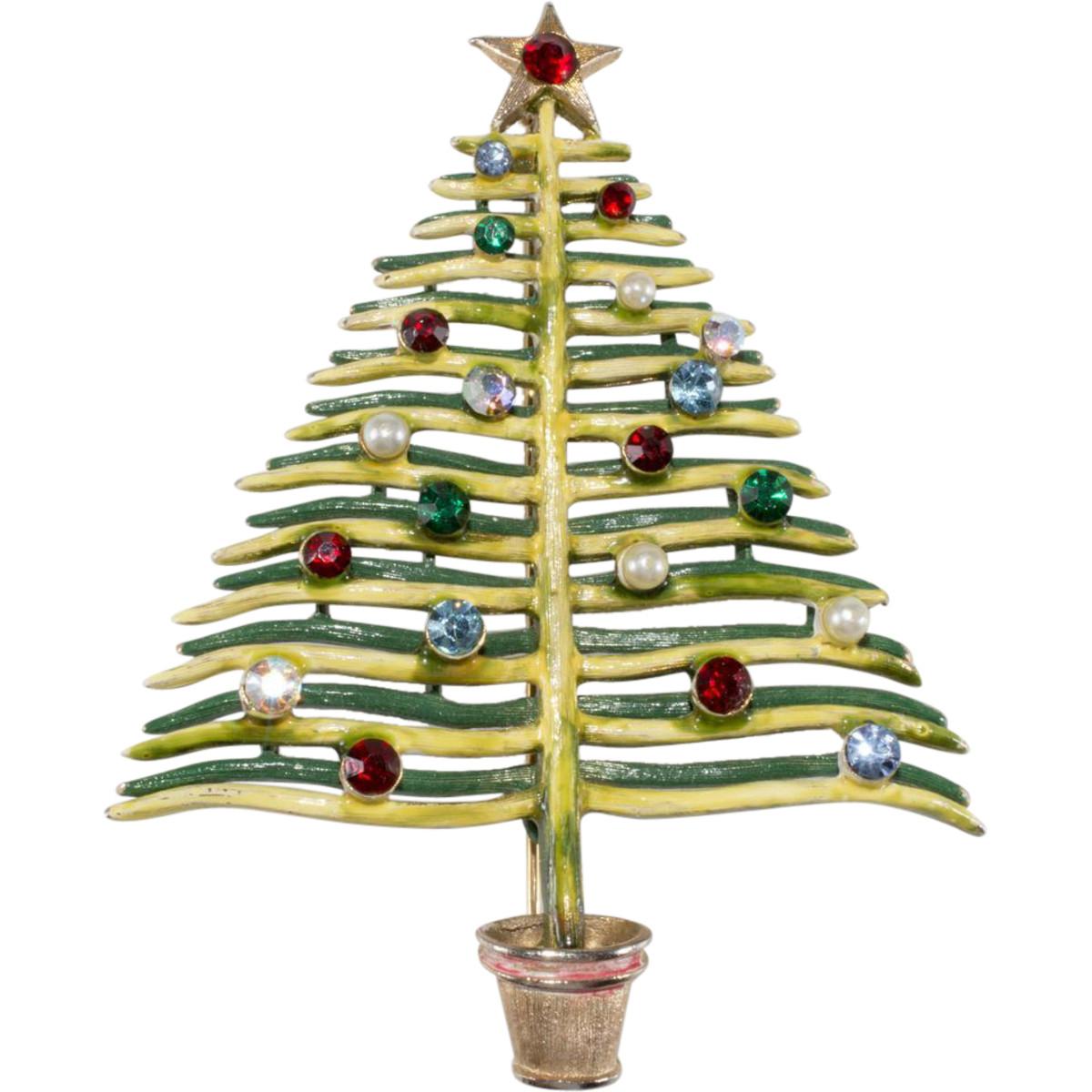 Christmas tree pin, 1960.