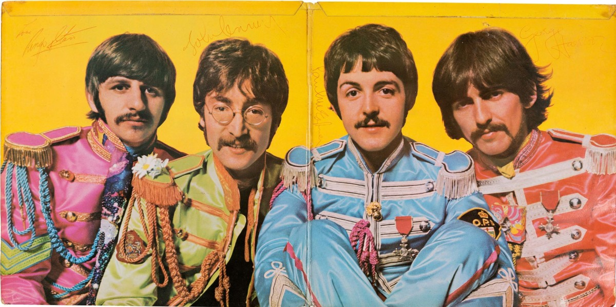 Beatles signed Sgt. Pepper's Lonely Hearts Club Band