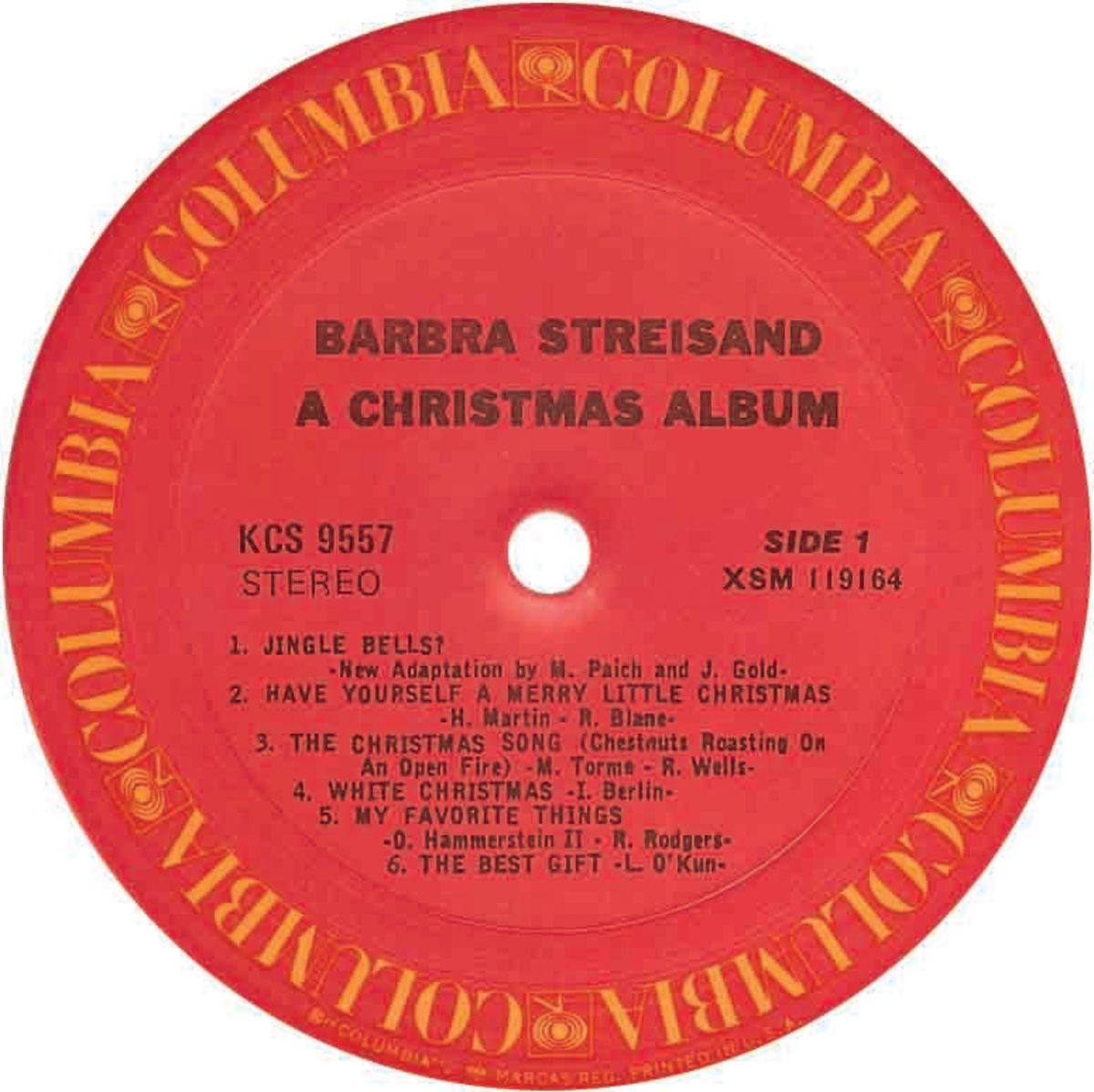 A Christmas Album, Barbra Streisand, 1967.