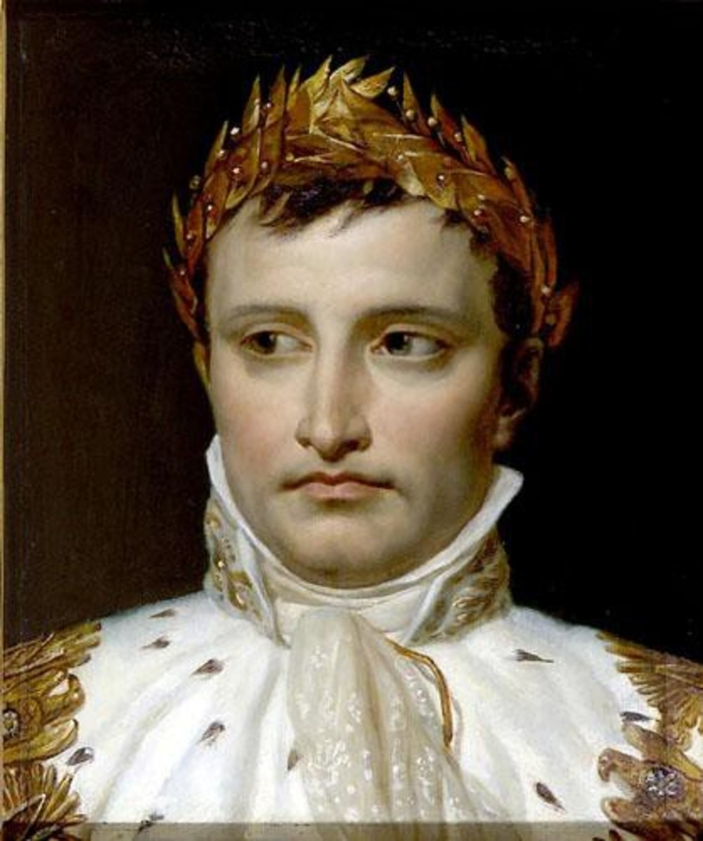 Napoleon wearing his famous laurel-leaf crown in 1804.