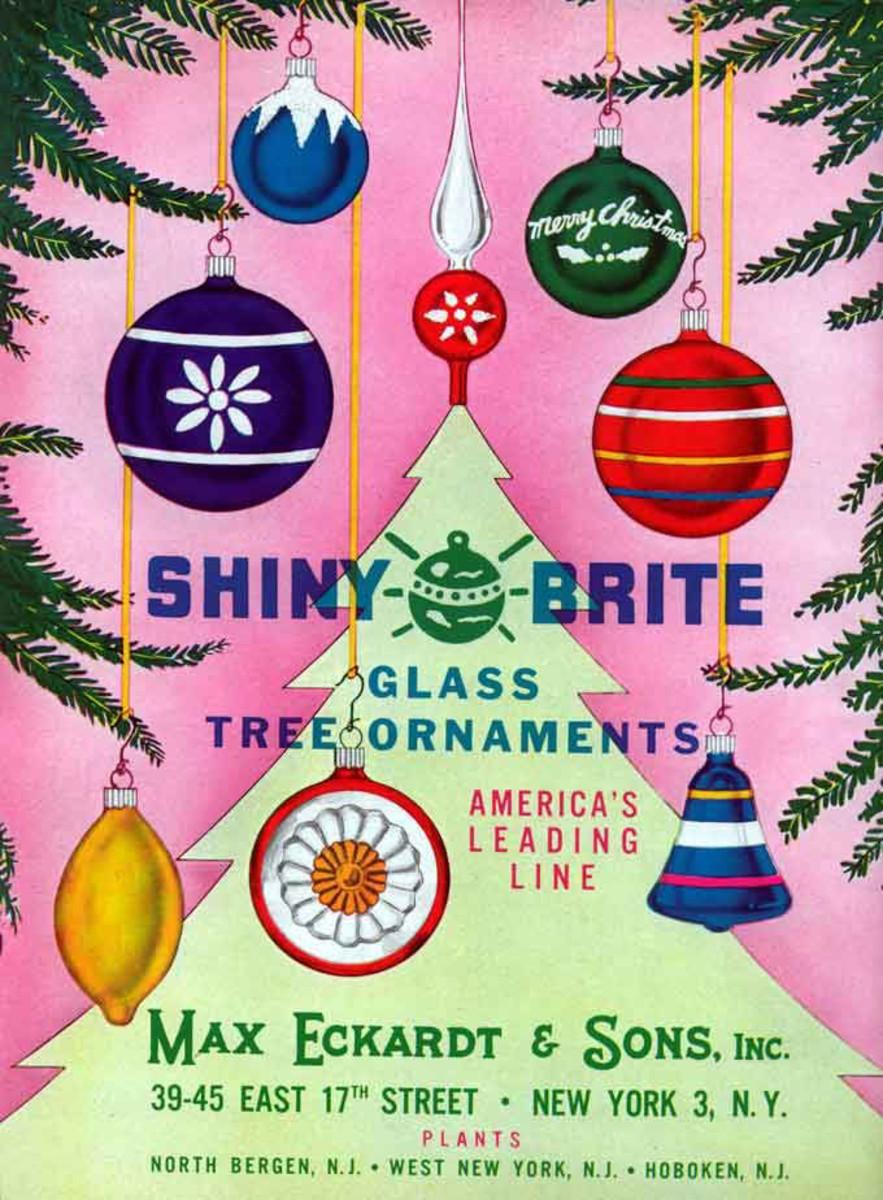 A Shiny Brite ad, 1950s.