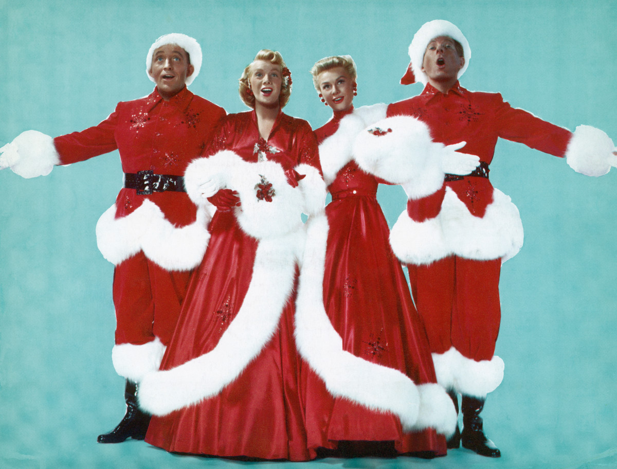 "Bing Crosby, Rosemary Clooney, Vera-Ellen and Danny Kaye, dressed in festive finery, sing ""White Christmas"" and all is right with the world."