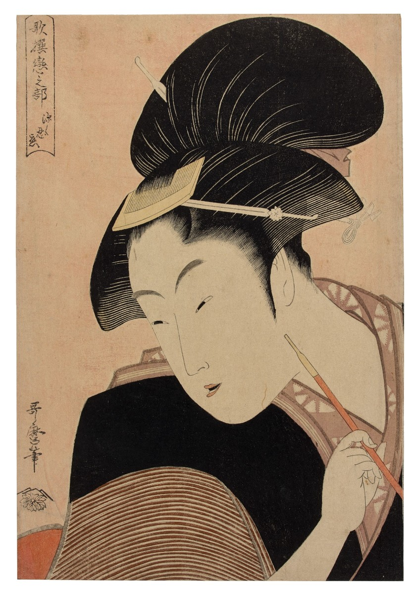 Kitagawa Utamaro's Deeply Hidden Love, which sold for $883,519 — the second-highest price ever paid for a Japanese print at auction.