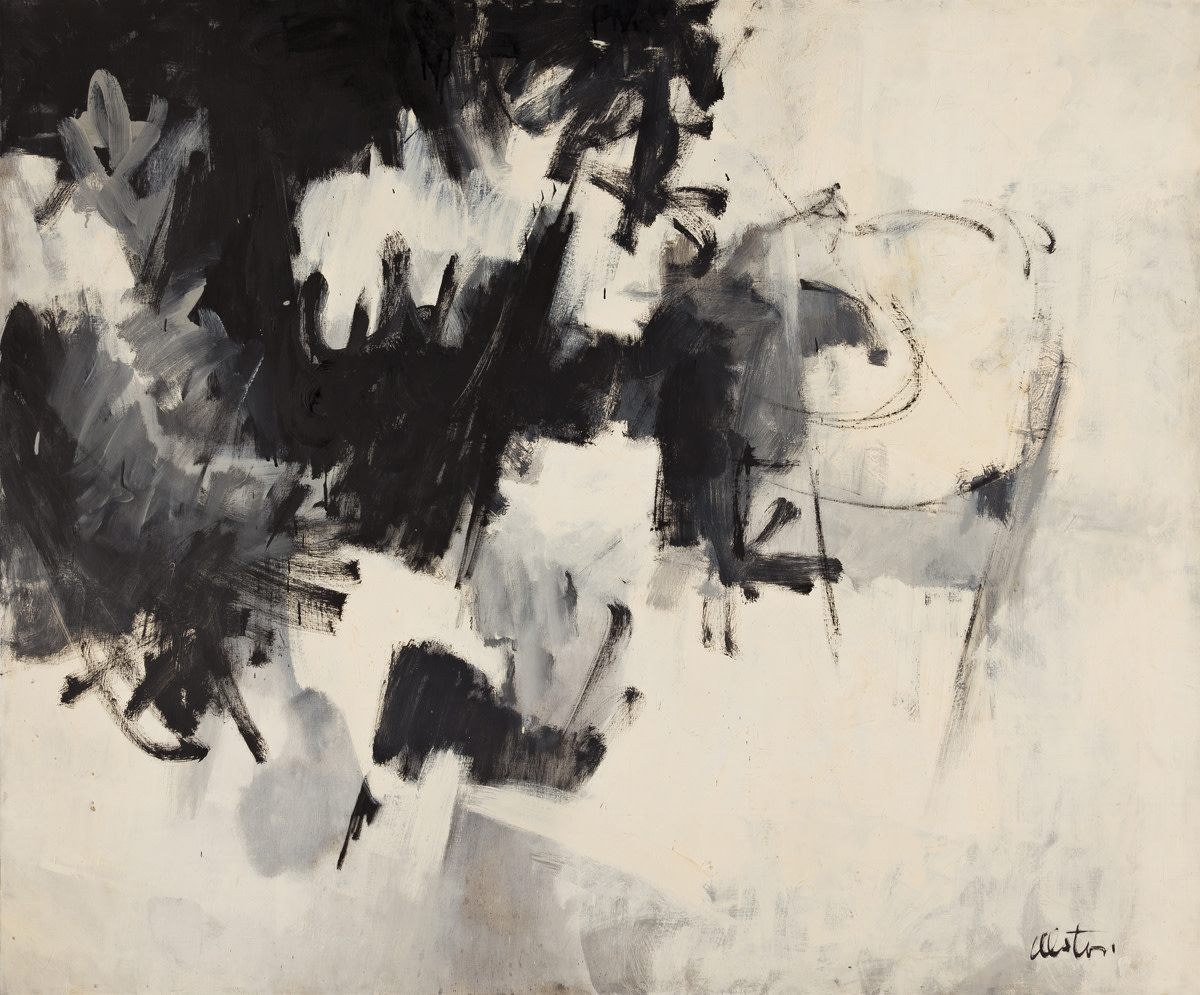 Charles Alston's Black and White #8, oil on linen canvas, 1961, was the top lot, after selling for $197,000.