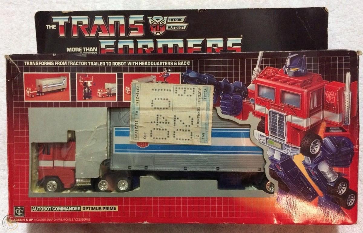 Optimus Prime in box
