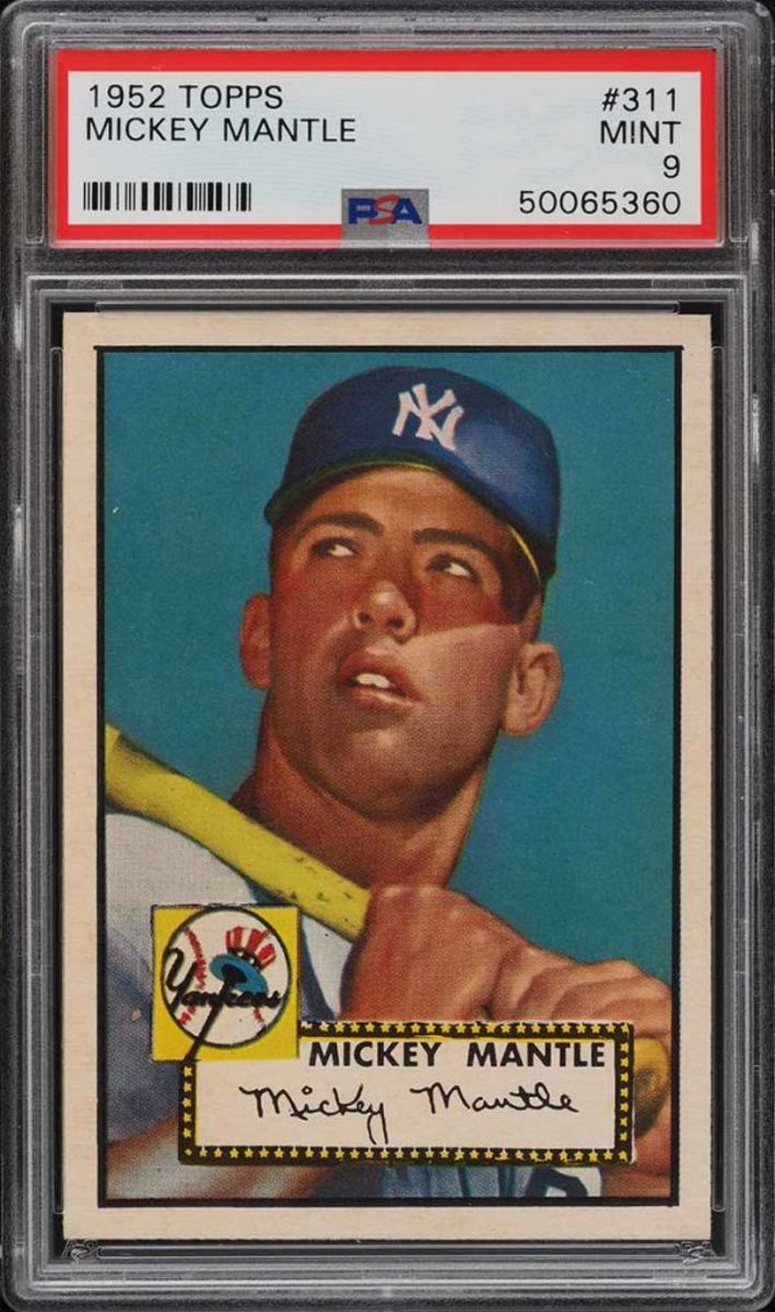 1952 Mickey Mantle baseball card
