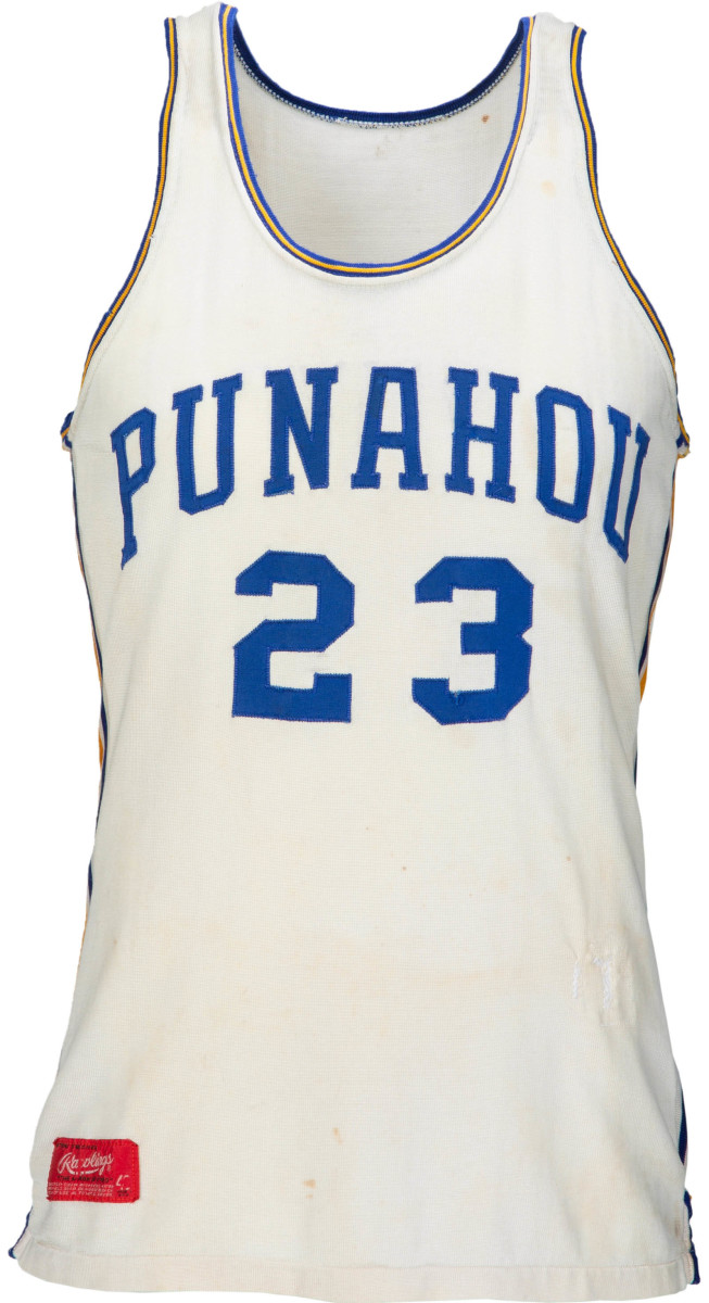 President Obama's high school basketball jersey