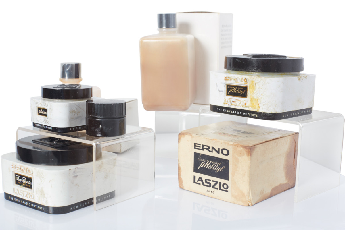 Products of the iconic skincare brand Erno Laszlo, which were favorites of Marilyn Monroe  and Greta Garbo.