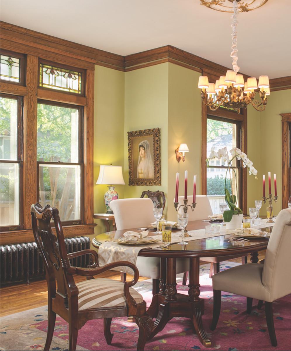 Foursquare dining room