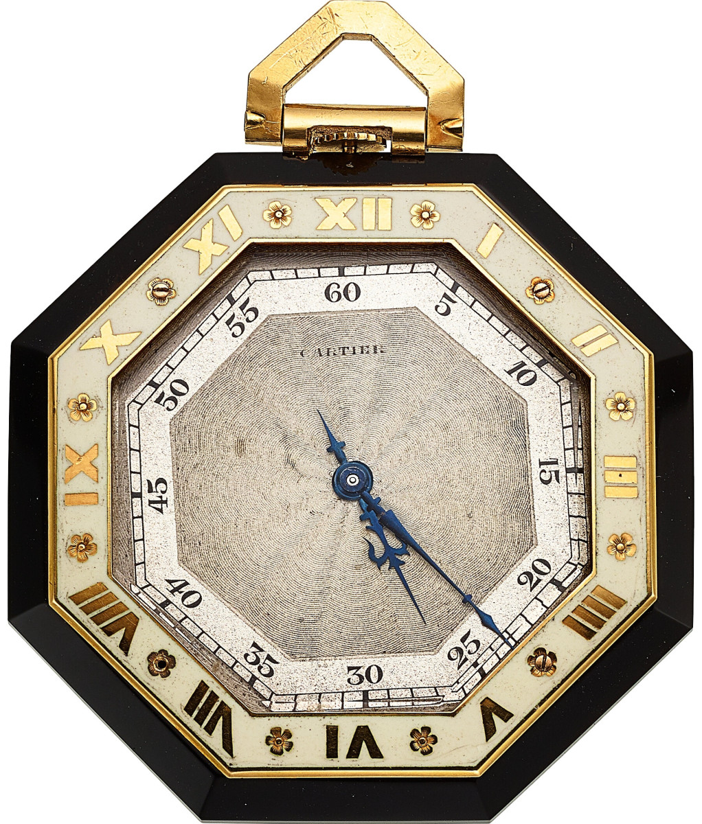 Art Deco everything was a top collecting trend in 2020, especially small items like watches. Cartier enamel, gold and hardstone Art Deco watch, European Watch & Clock Co., circa  1920s; $4,000.