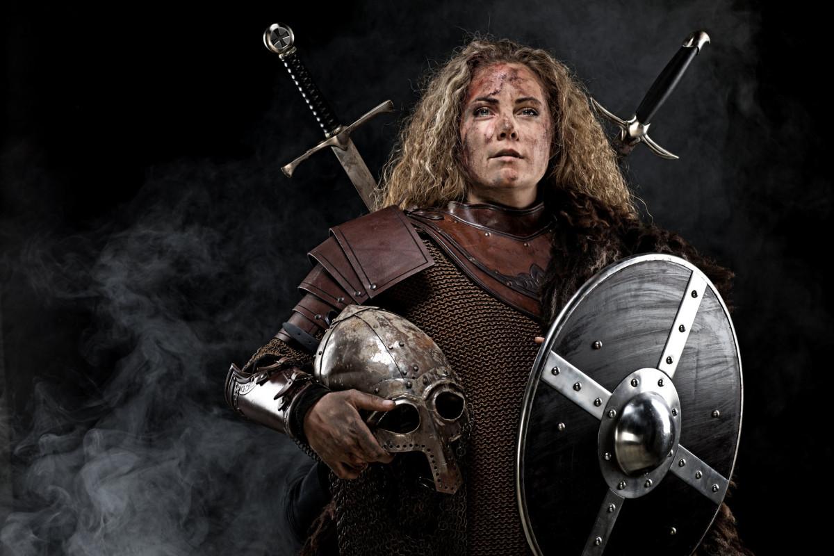 Woman in armor