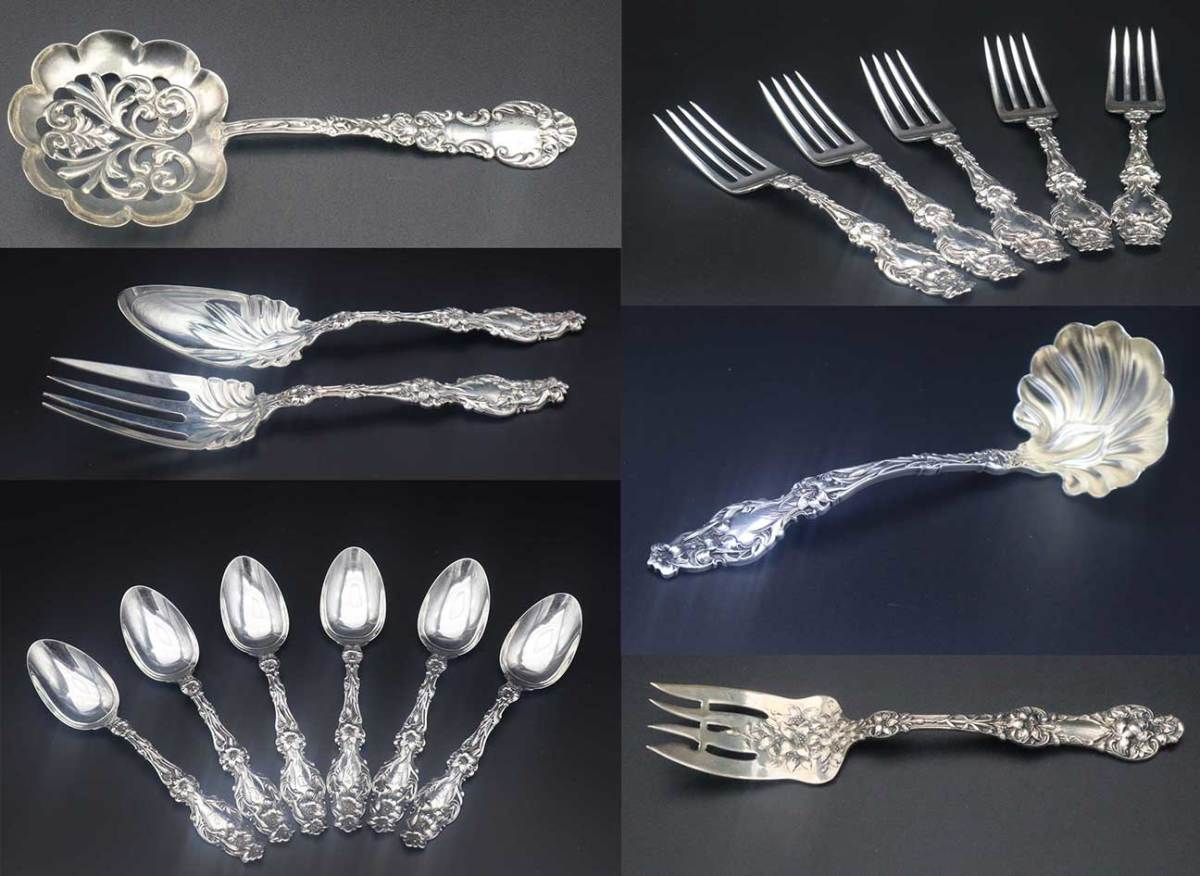 A wonderful collection of antique and vintage estate silver at online auction.