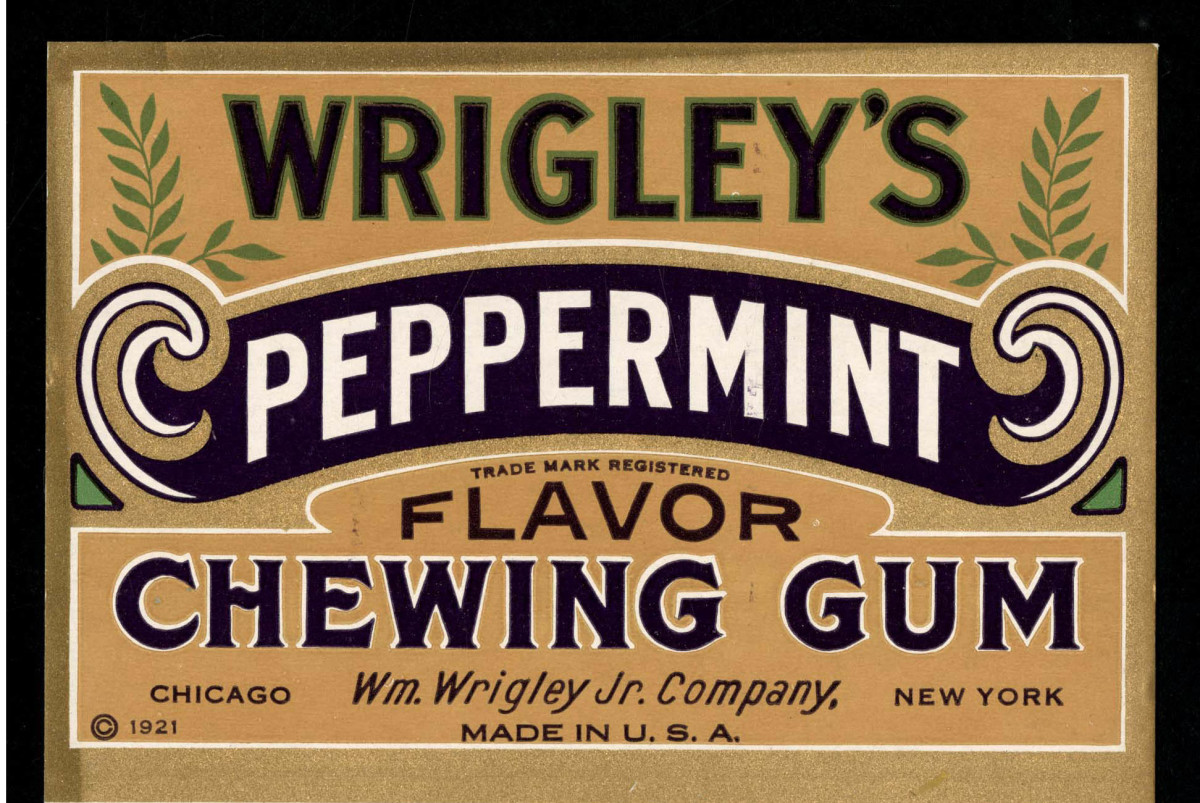 1921 Wrigley's Peppermint Chewing Gum
