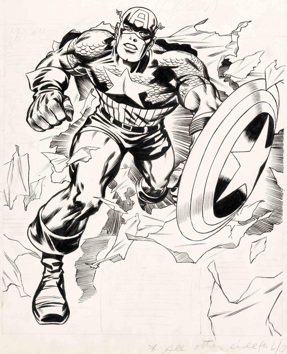 Original Captain America cover art