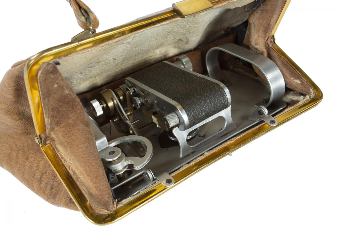 "The secret camera inside of ""The Fly"" purse."