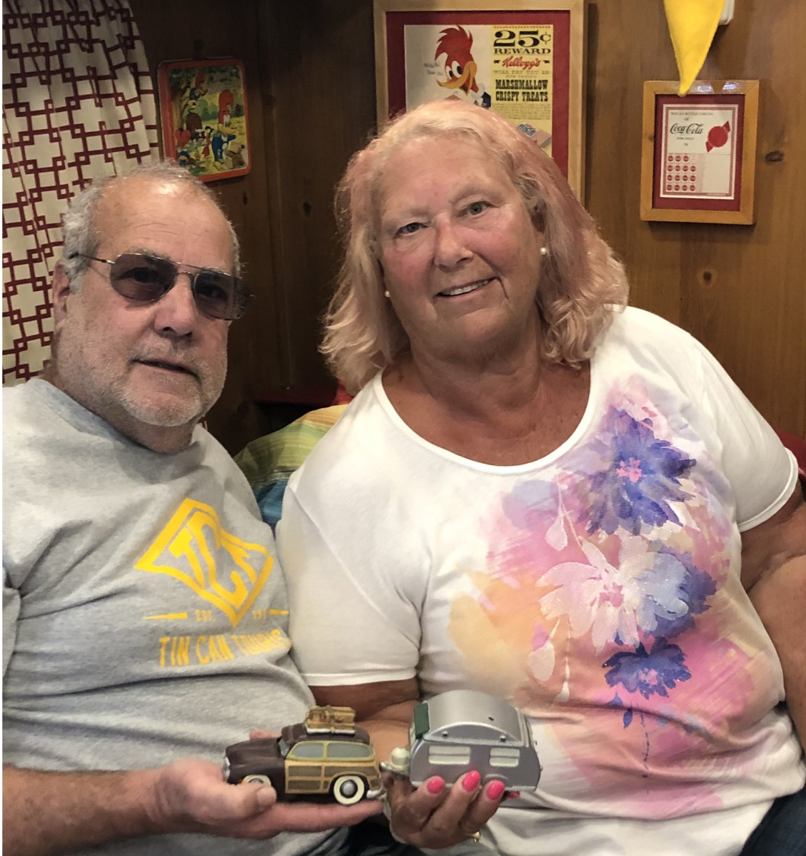 While they might not agree on which cola is the best, Rick and Bonnie Cook do agree vintage travel trailers suit their taste just fine.