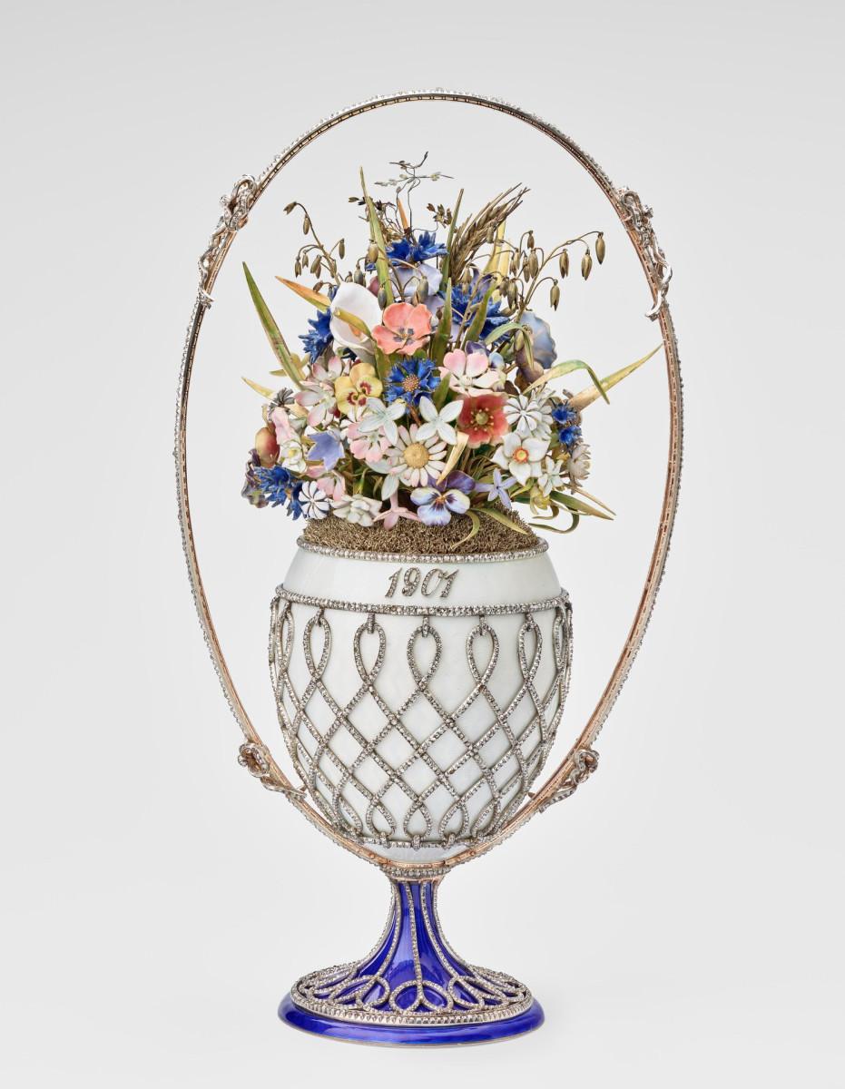 Basket of Flowers Egg, 1901.