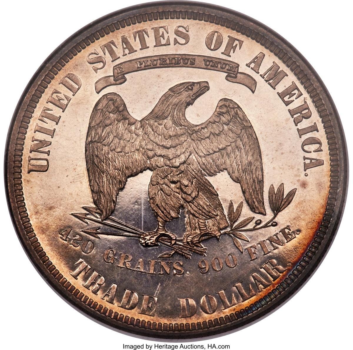 1885 Trade Dollar reverse