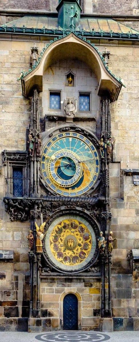 The impressive Orloj in Prague's Old Town Square.