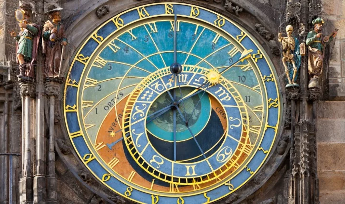 A closeup of the dial.