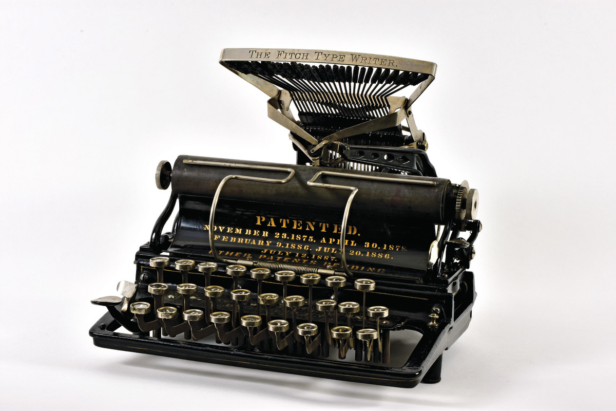 With its quirky design and limited production, the Fitch, 1888, is a favorite among typewriter collectors.