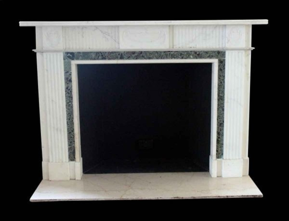 English Regency marble fireplace salvaged from the legendary Waldorf Astoria Hotel in New York.