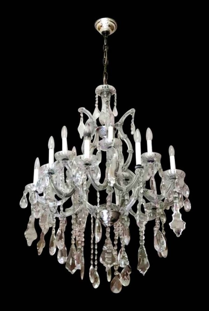 A rescued crystal chandelier.