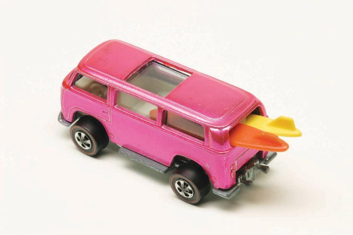 A rare 1969 pink rear-loading Volkswagen  Beach Bomb