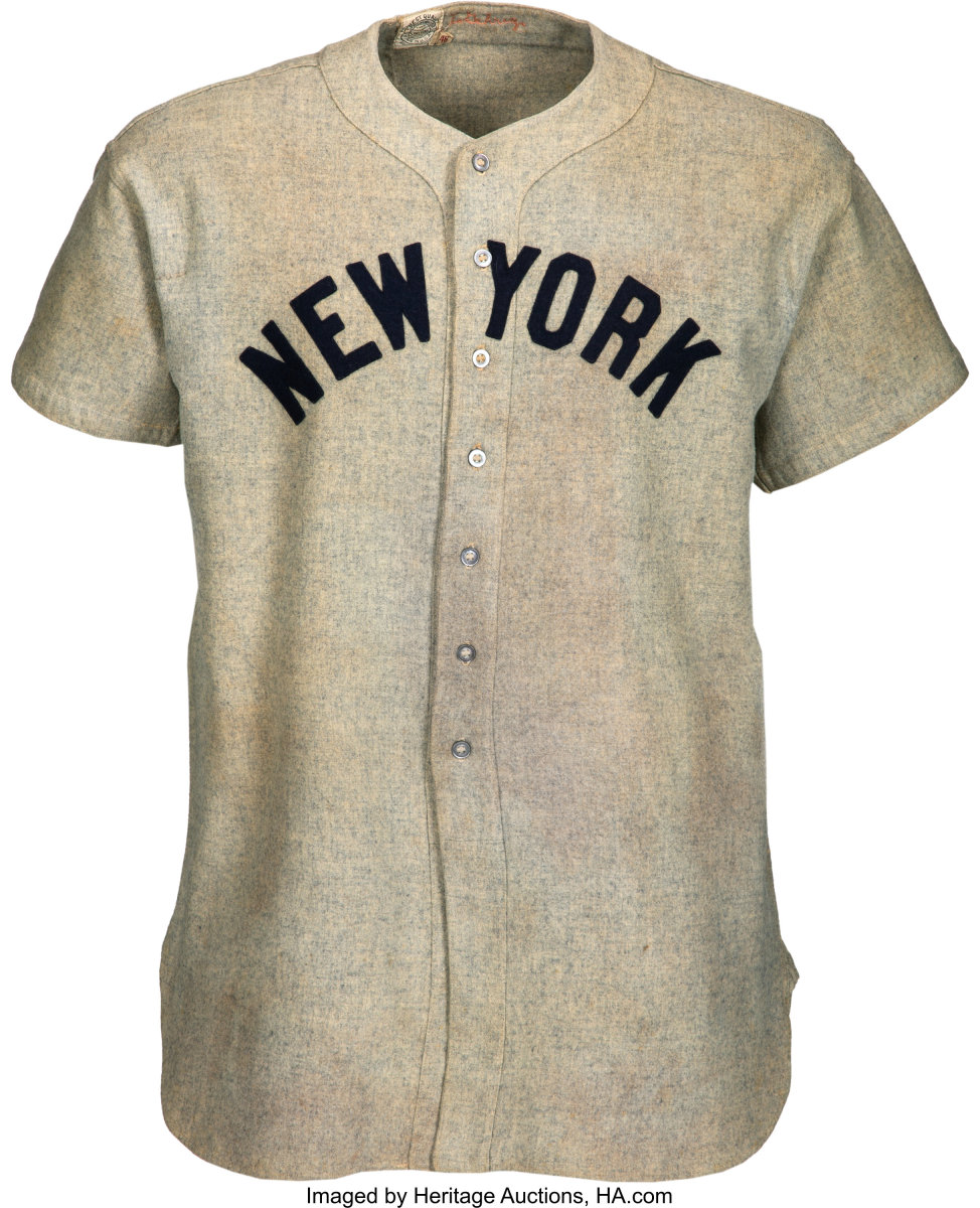 The world record for most expensive post-war baseball jersery went to Lou Gehrig's 1937 jersey he wore while a New York Yankee. It sold for $2,580,000 in August 2019.