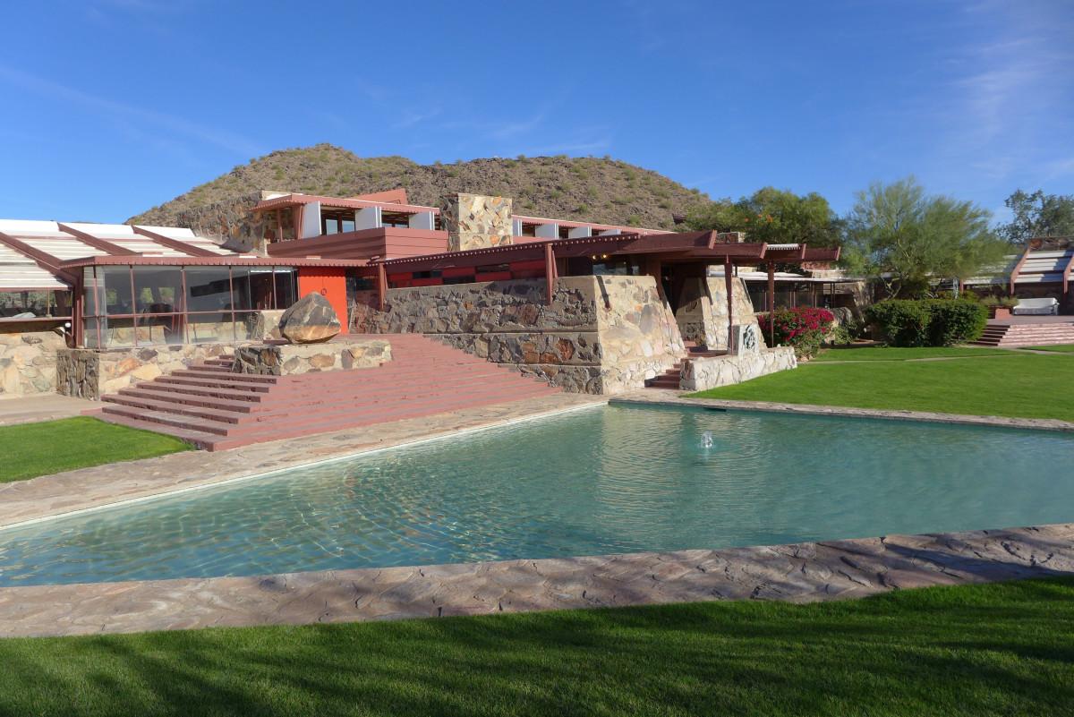 Frank Lloyd Wright's Taliesin West in Scottsdale, Arizona.