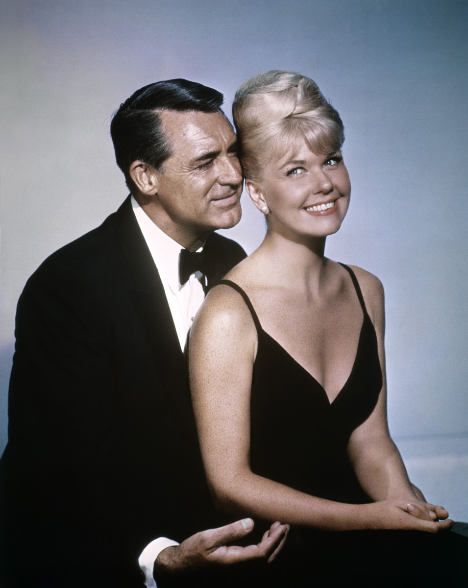 "Doris Day and Cary Grant on the set of ""That Touch of Mink,"" which won the Golden Globe  for Best Comedy movie in 1962. Day won four Golden Globes in her career."