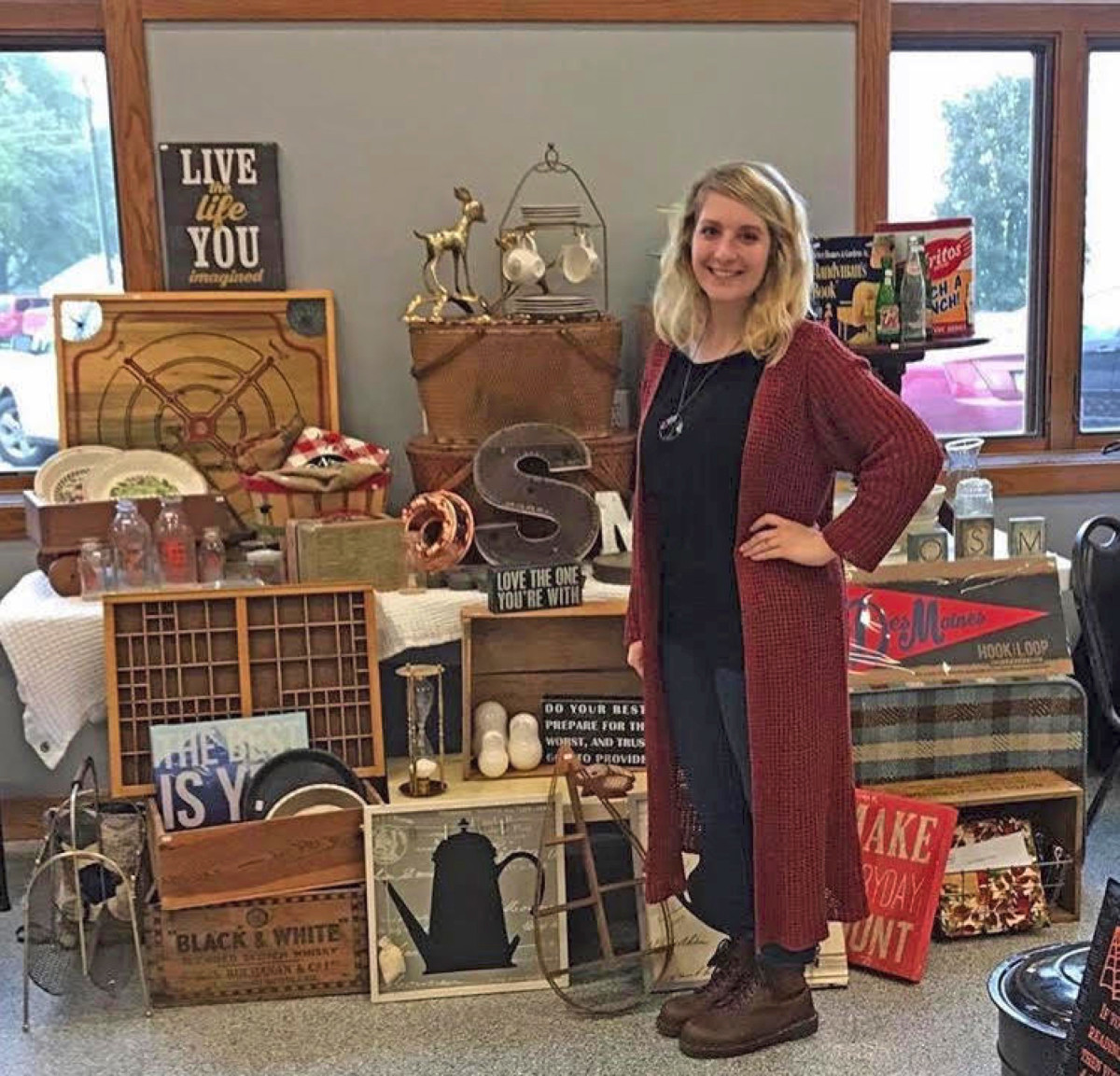 Brandi Rockwell, 28, first became interested in vintage fare through her grandmother, but also liked bargain hunting at thrift stores.