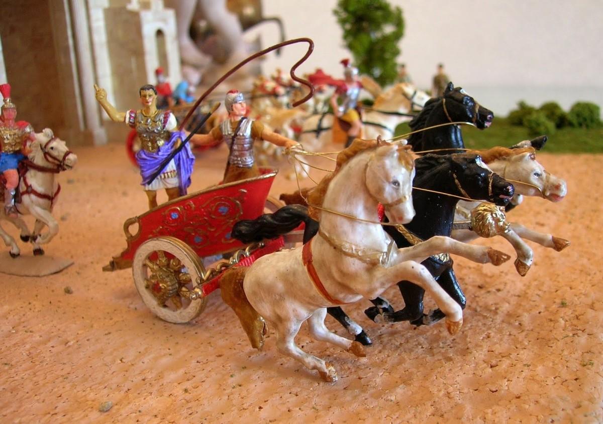 Elastolin Roman chariot detail, by Joaquín Morales.