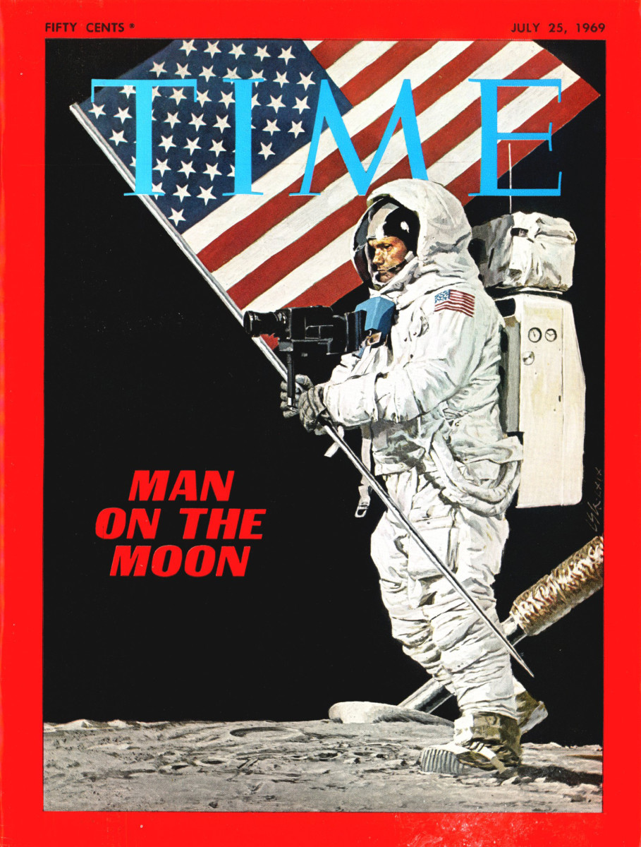 Time magazine's July 25, 1969, commemorative issue of the moon landing.