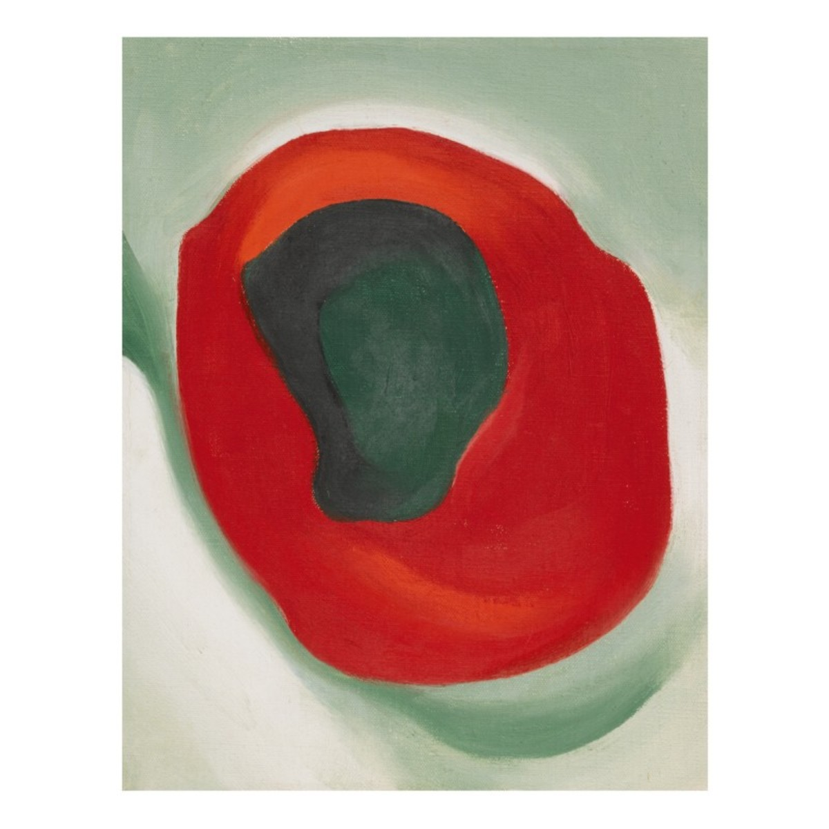 Untitled (Alligator Pear in Red Dish), painted circa 1923, sold for $740,000.