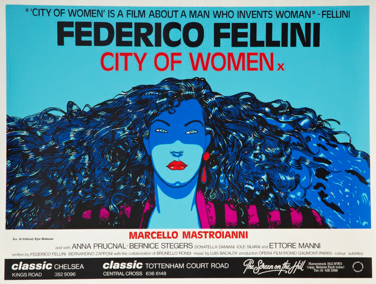 City of Women (1980) Italian: For City of Women, Federico Fellini's sequel of sorts to his 1963 autobiographical classic 8 1/2, Italian cult comic artist Andrea Pazienza – whose professed influences were Italian Renaissance paintings, American underground comics, and psychedelic drugs – conjured this fantasy of glorious, heavenly womanhood.