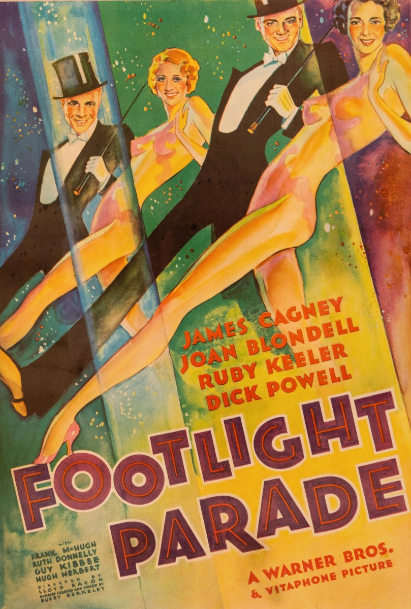 Footlight on Parade, Warner Brothers' 1933 classic starring James Cagney and Dick Powell paired with Ruby Keeler and Joan Blondell.