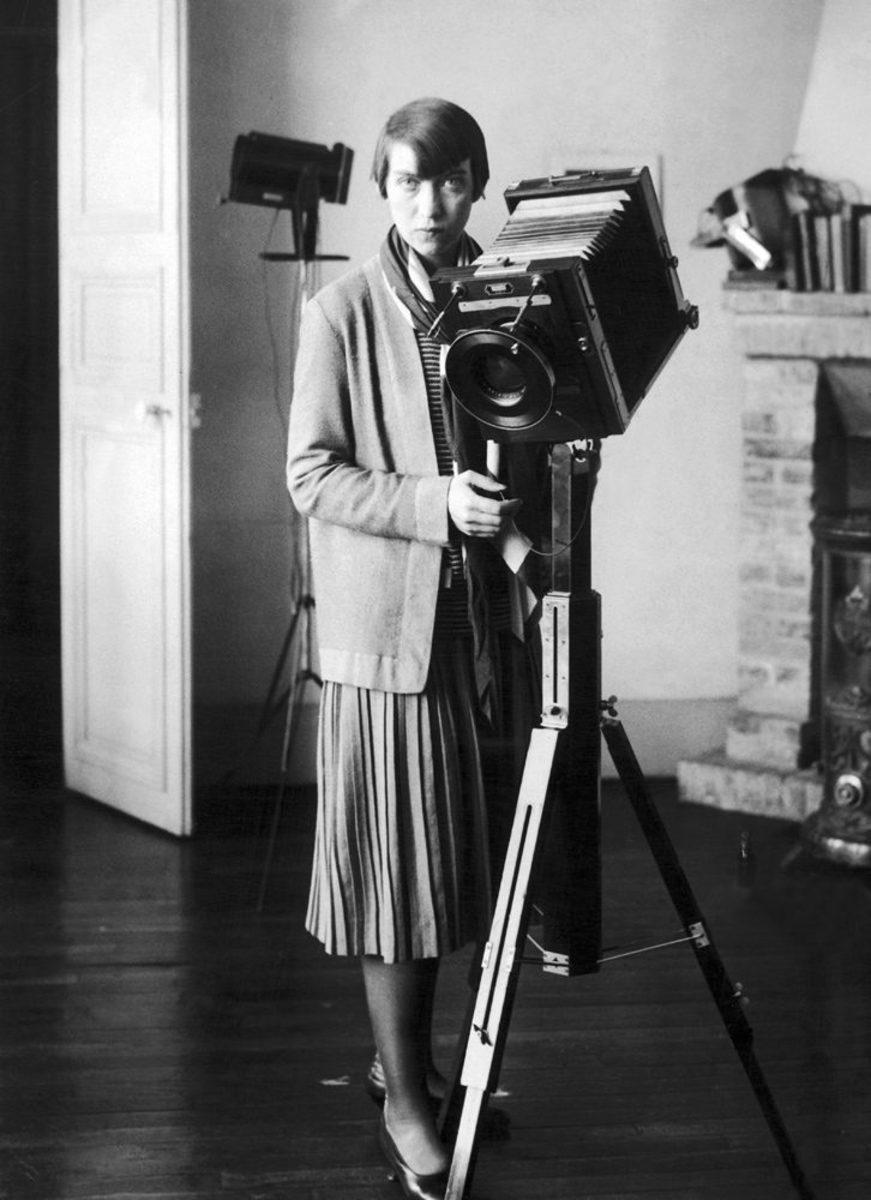 Berenice Abbott, 1930s; photographer unknown.