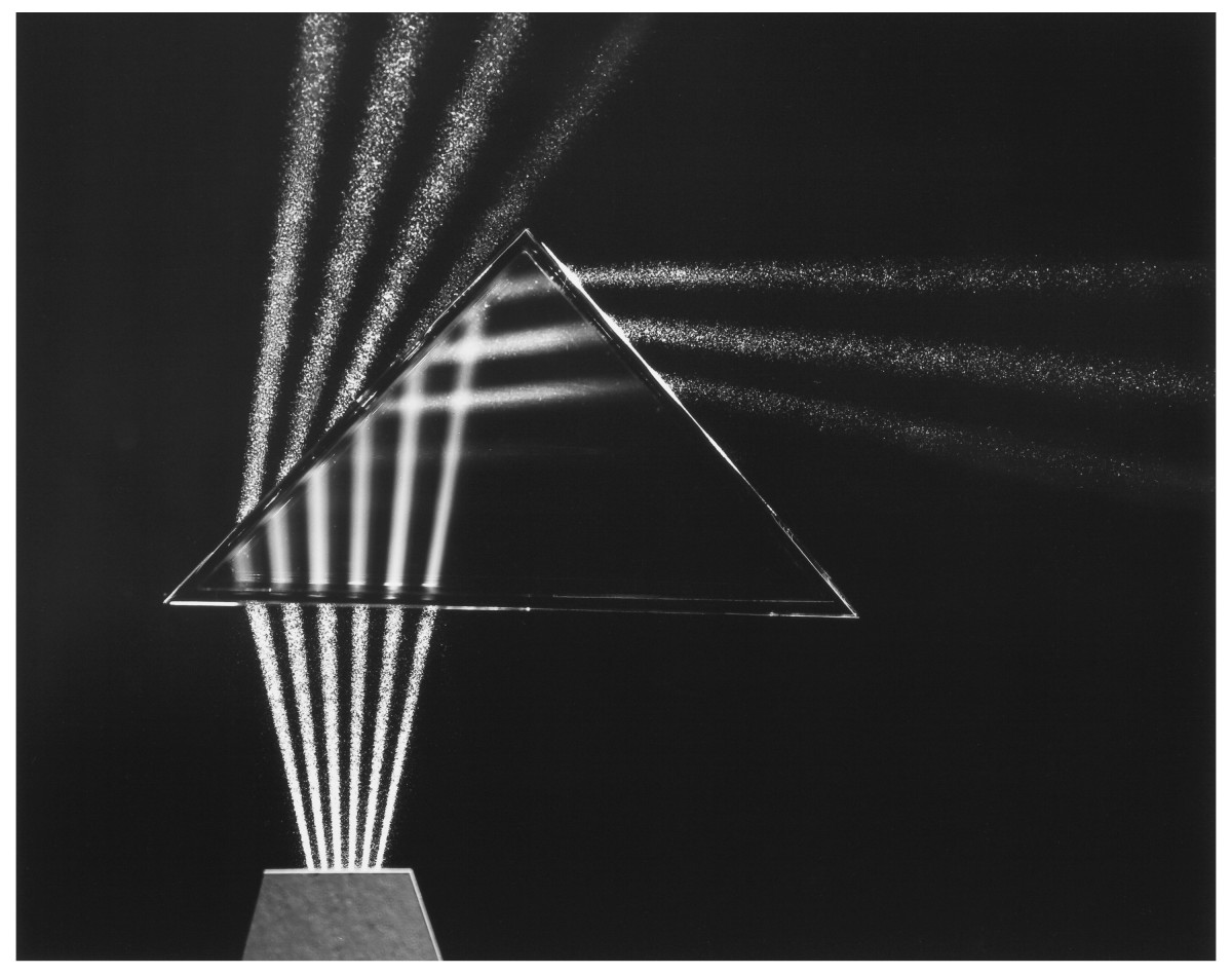 """Light Through Prism, 1958, gelatin silver, 15-3/4"""" x 19-3/4"""", sold at Heritage Auctions for $1,625."""