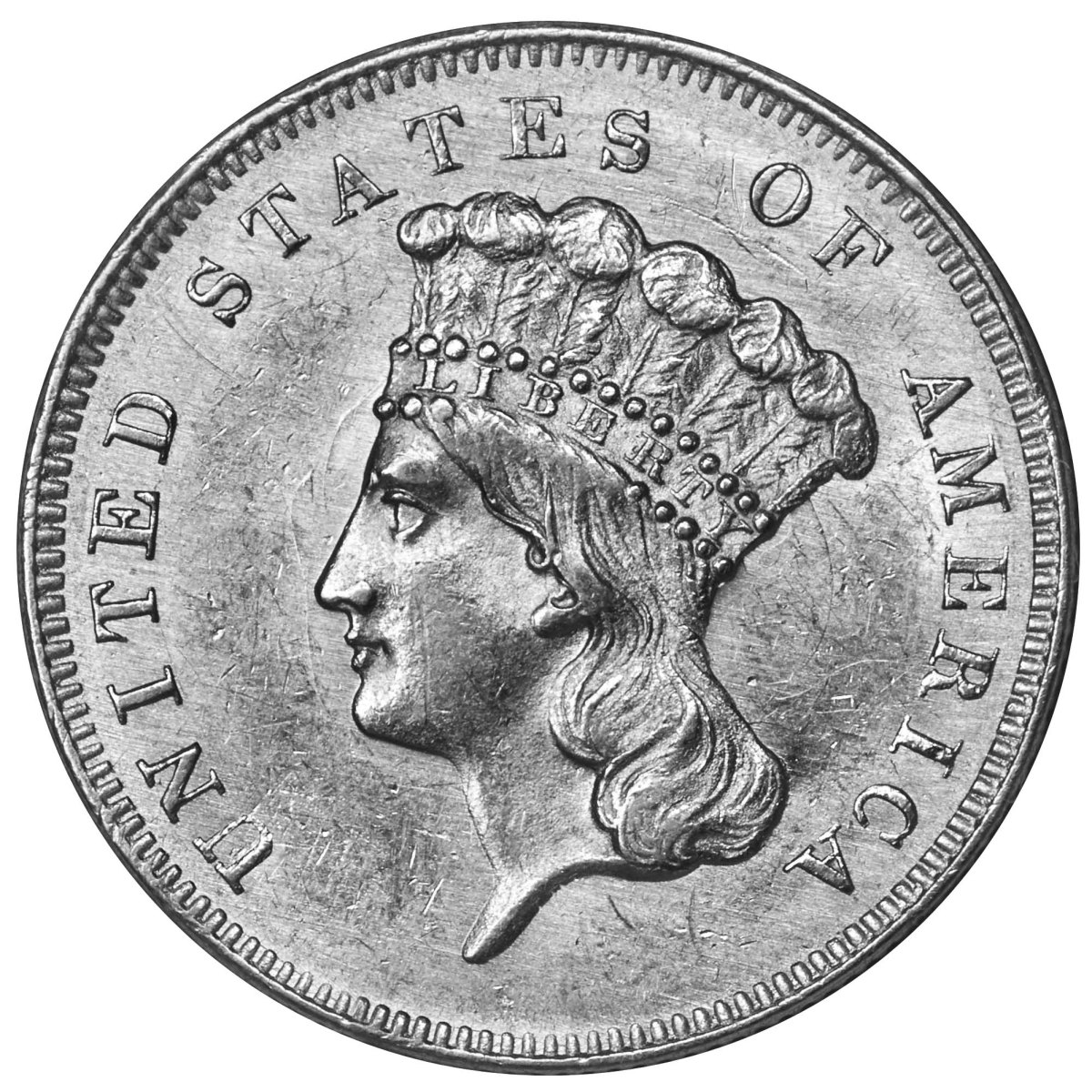 Among the many coins Steven Wilson collected through the years is the $3 gold piece like the one here from 1857.
