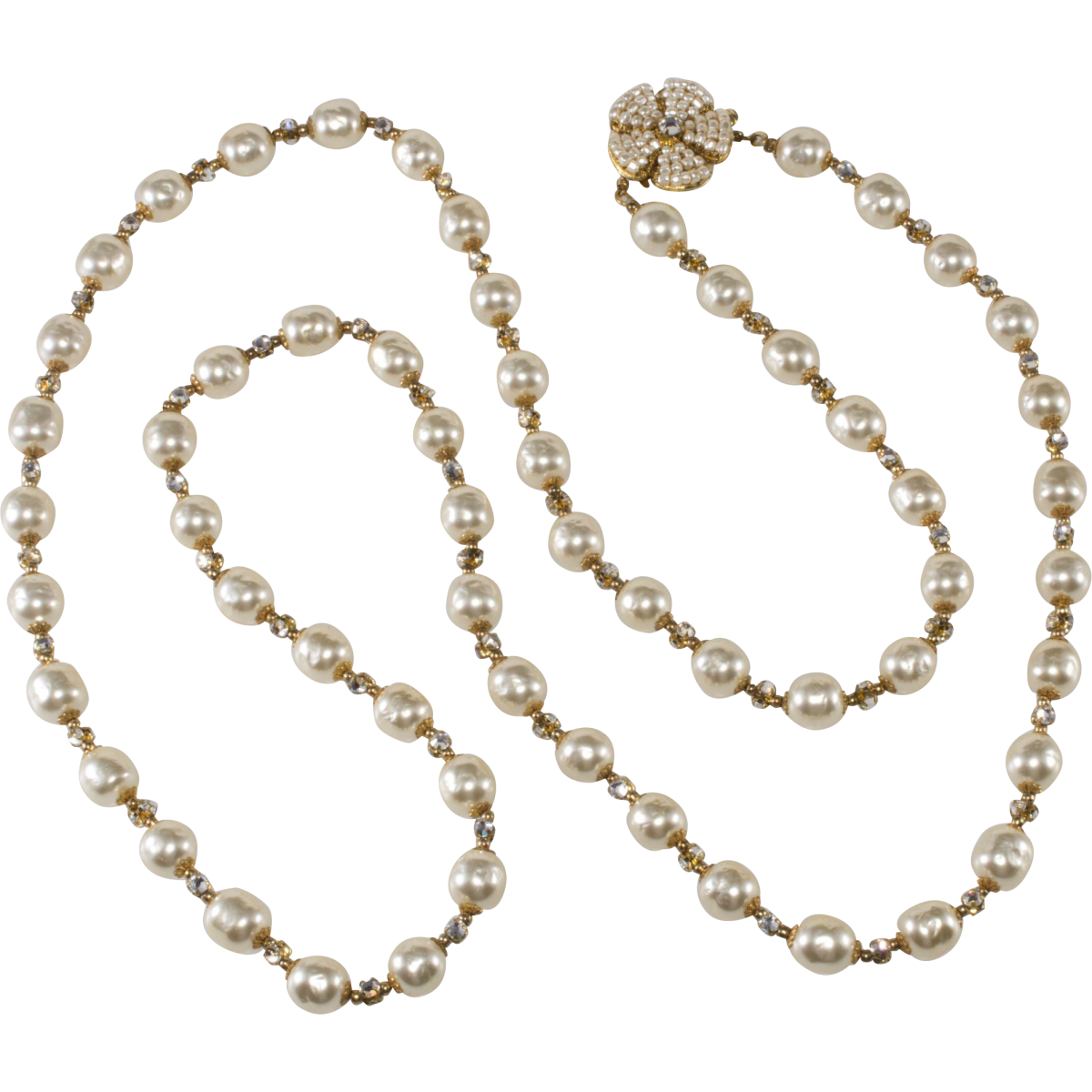 Miriam Haskell faux pearl necklace, 1950s.