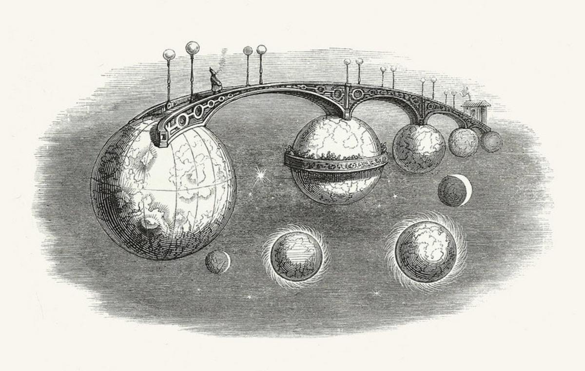A Bridge Leads from One World to the Next, from Another World, 1844.