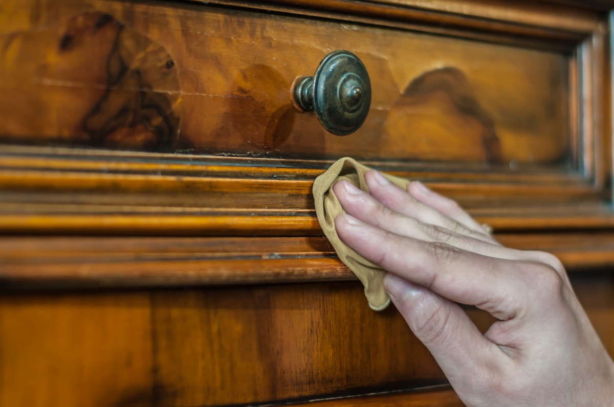 Maintain the original finish of furniture whenever possible, preserving the historical value of the piece.