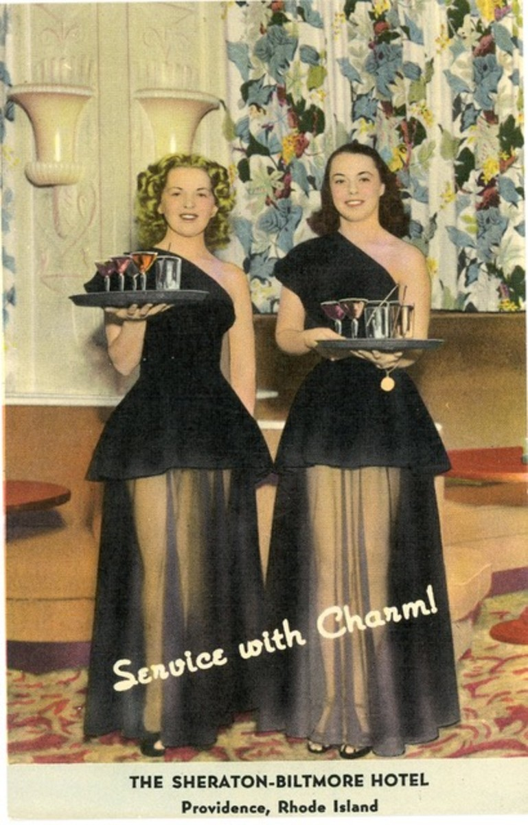 In some cities, the see-through skirt worn by Sheraton cocktail waitresses was deemed indecent by the local police, and the ladies were required to wear a petticoat or an opaque garment