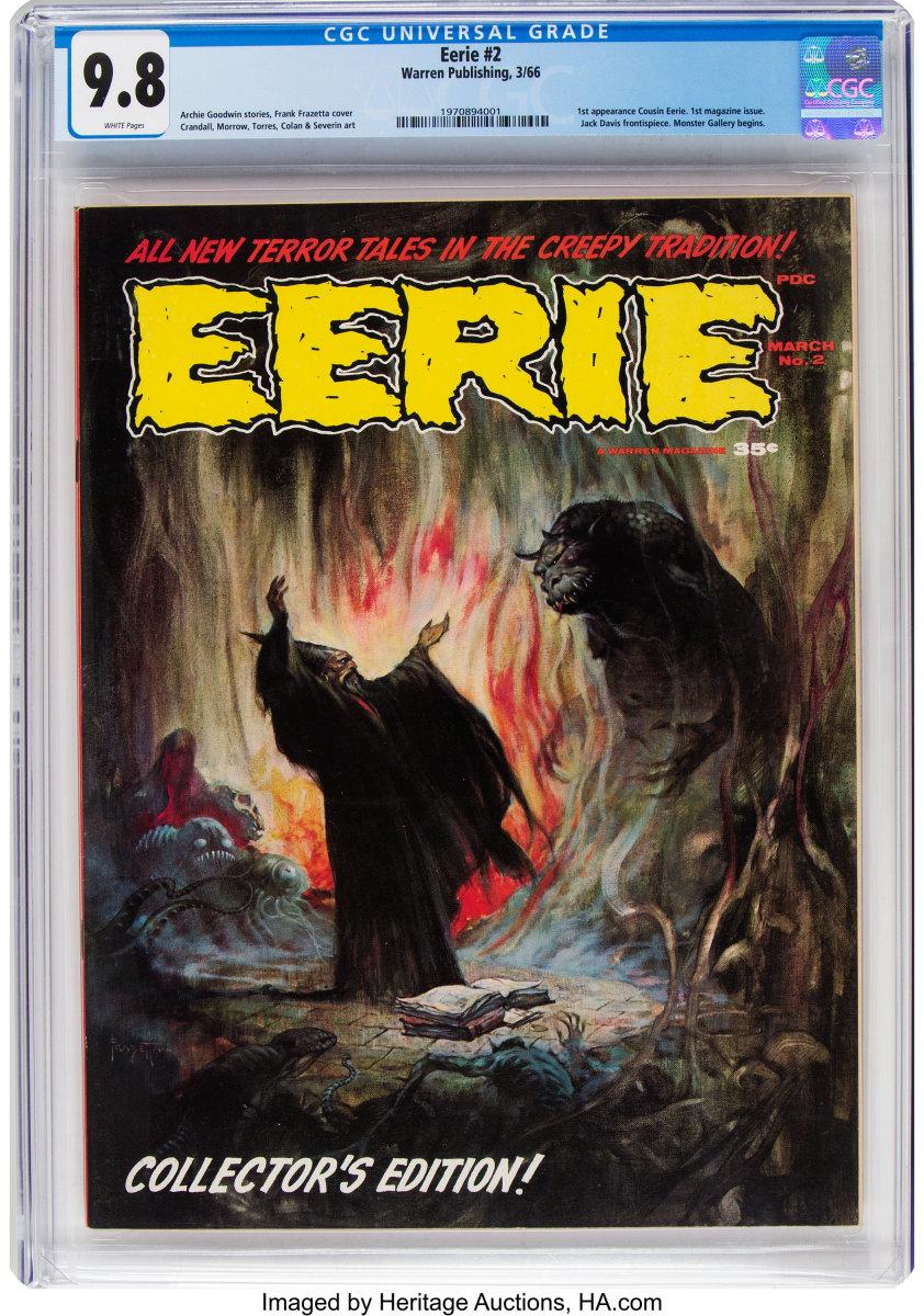 Eerie #2 (Warren, 1966), CGC NM/MY 9.8, $3,600.