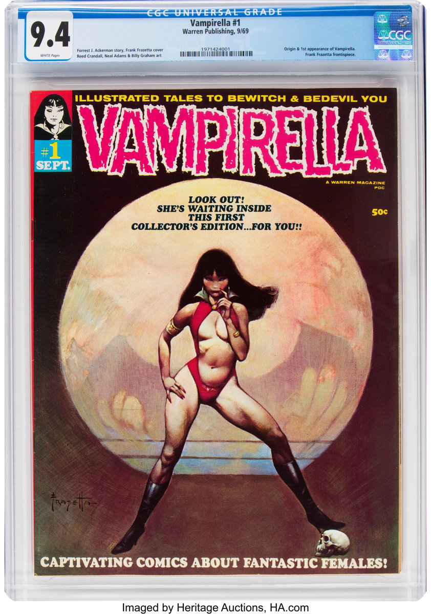 Vampirella #1 was No. 1 with collectors and the top lot, after selling for $7,200.