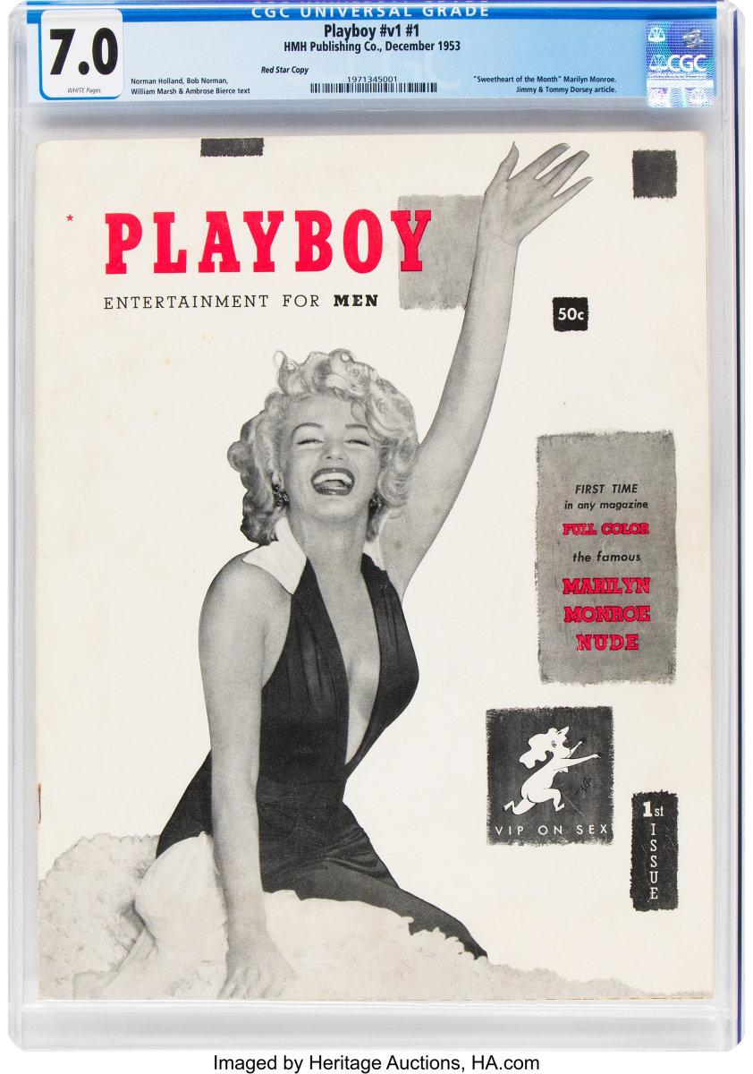 Playboy #1 Red Star Copy (HMH Publishing, 1953), CGC FN/VF 7.0, $6,600.