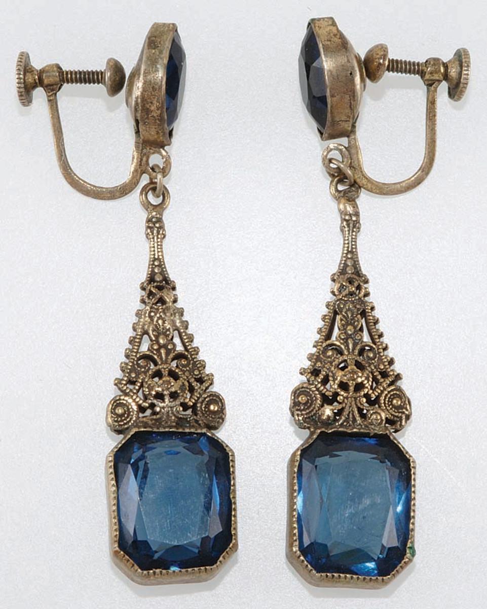 Napier filigree earrings, late 1920s.